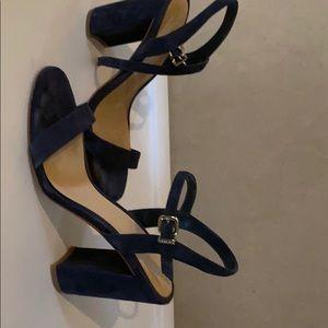 Gianni Bini Velvet Navy Blue Sandals.